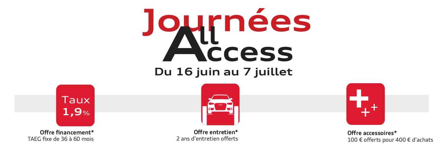 Journées All Access Audi Occasion juin 2018