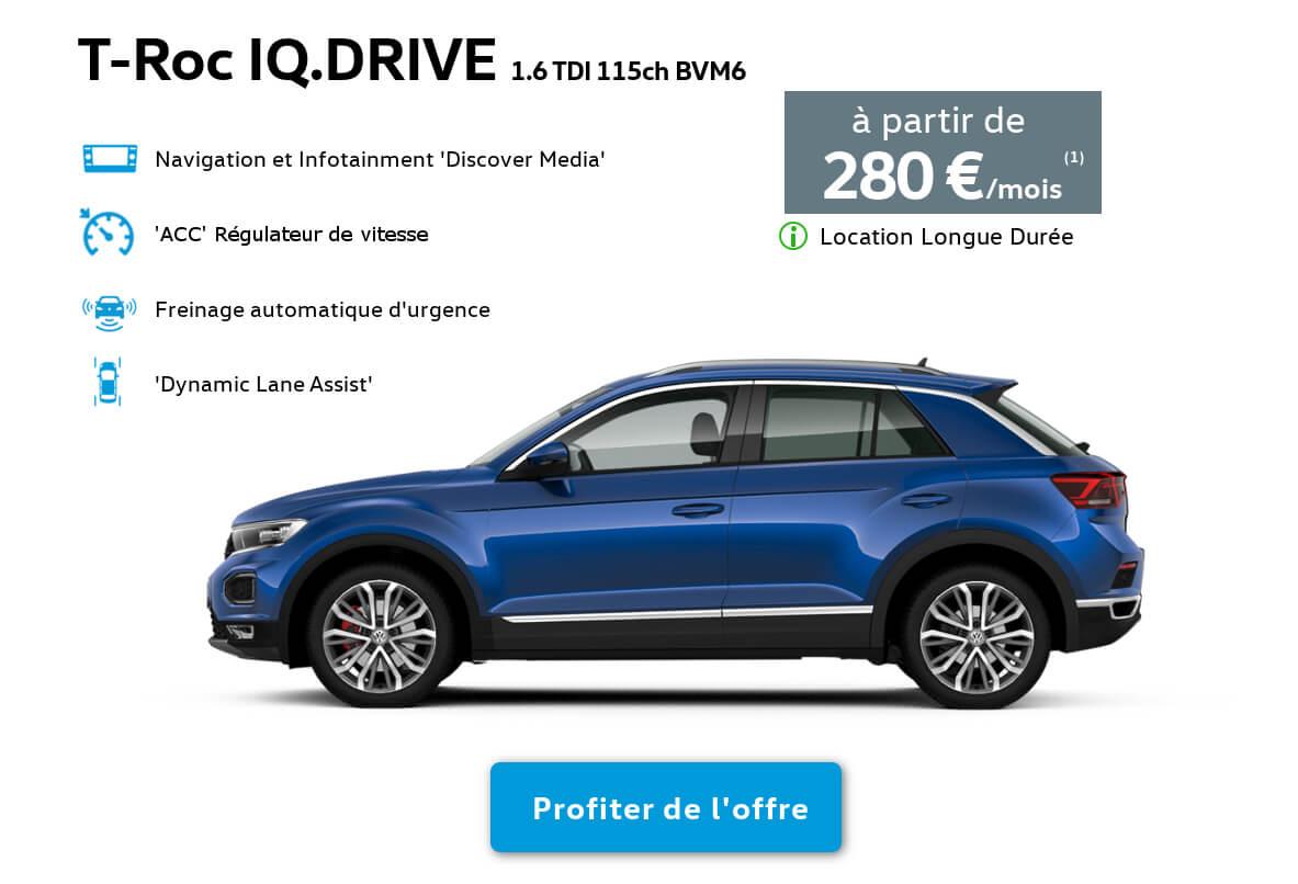 Offre Location T-Roc Volkswagen