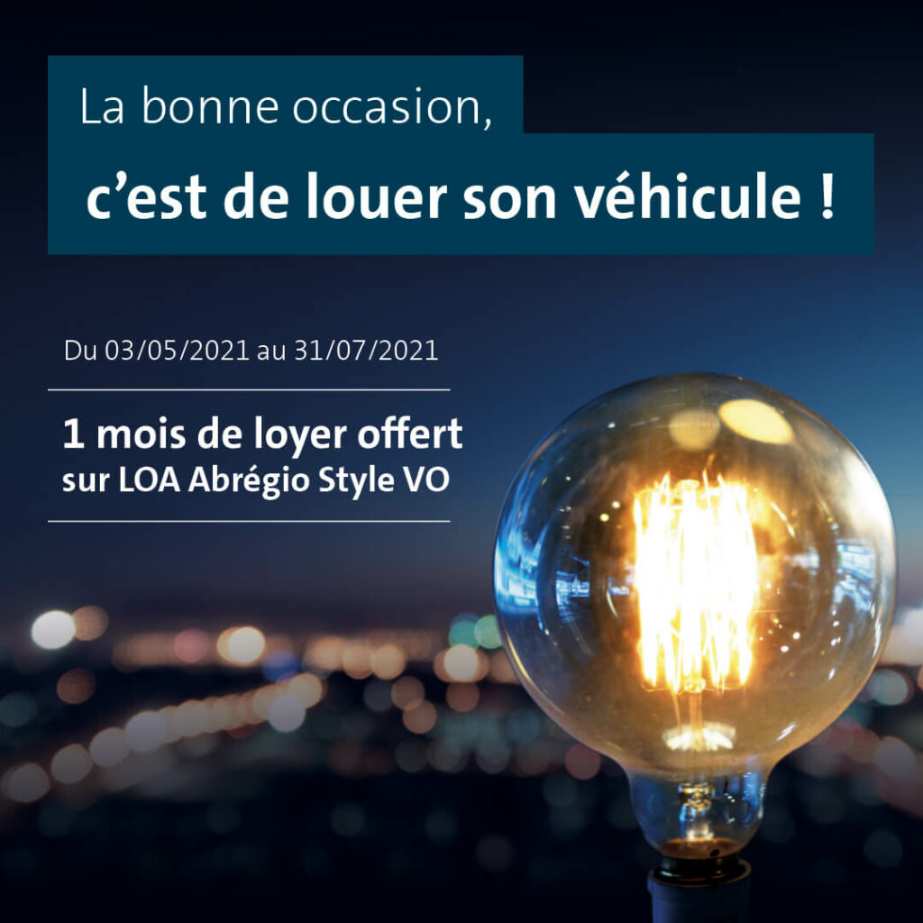 Offre LOA Véhicules d'occasion