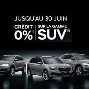 Skoda  Saintes : Crédit à taux zéro sur la gamme SUV Škoda
